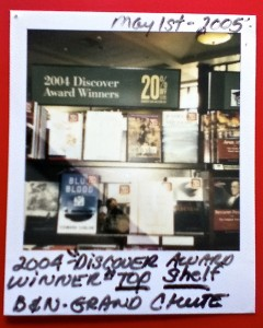 One of the polaroids snapped by the event coordinator at a local Barnes & Noble.